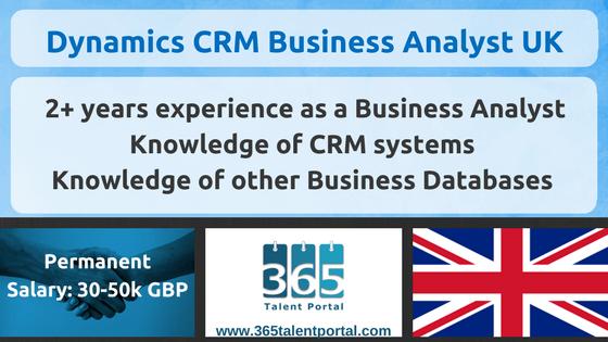 Microsoft Dynamics CRM Business Analyst UK