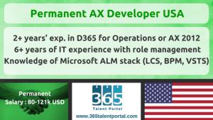 Permanent AX Developer USA
