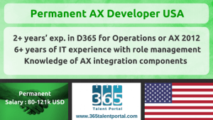 Permanent AX Developer USA