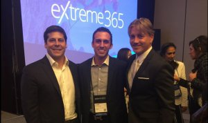 Avantiico's Amir Khoshniyati, with Ron Huddleston and eXtreme365's Joseph Corigliano