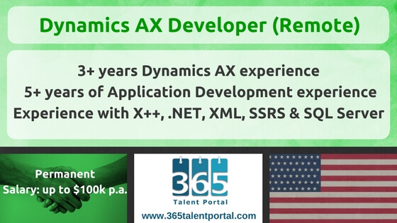 Microsoft Dynamics AX Developer USA Remote Job