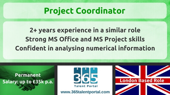 Project Coordinator UK Job