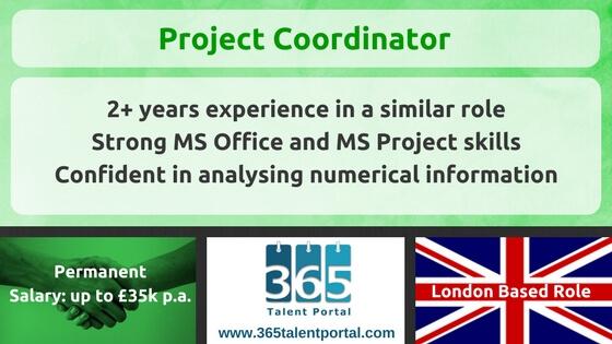 Project Coordinator UK Job