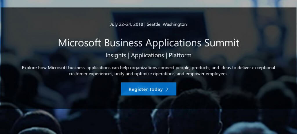 Microsoft Business Applications summit 2018