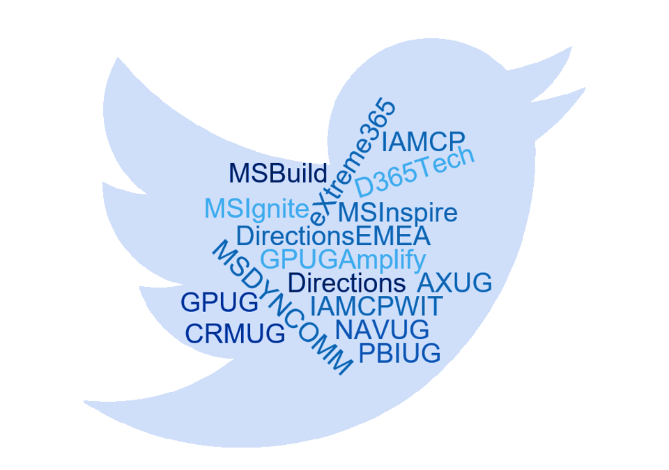 Important hashtags for Microsoft Dynamics partners