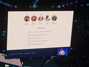 Microsoft Inspire 2018 FY19 customer focus