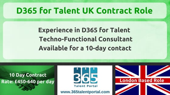 Microsoft Dynamics 365 for Talent UK Contract Job
