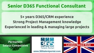 Senior Dynamics 365 Functional Consultant