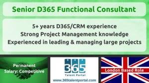 Senior Dynamics 365 Functional Consultant