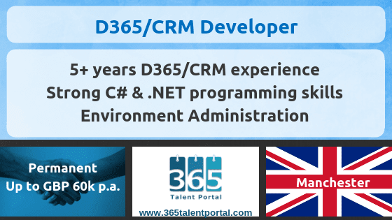 Permanent Dynamics CRM Developer job – Manchester, UK
