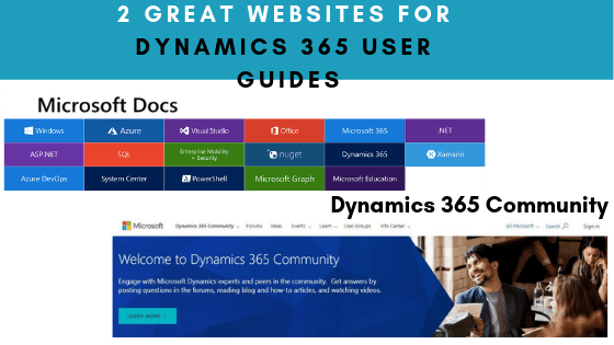 Looking for Dynamics 365 user guides? Check these 2 great websites