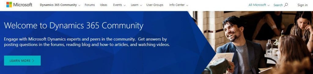 Dynamics Community Homepage