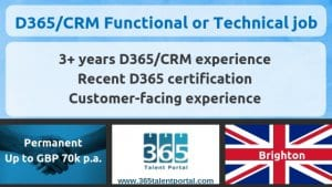 D365/CRM functional and technical