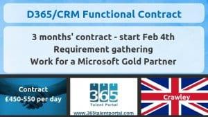 Dynamics 365 CRM consultant