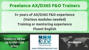 Dynamics 365 F&O Trainers