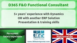 Dynamics 365 F&O Functional Consultant