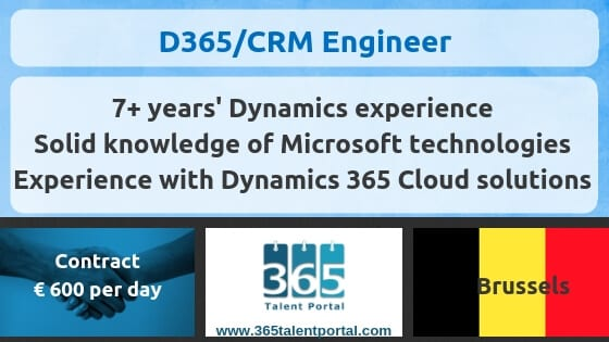 Dynamics 365 CRM Engineer Contract