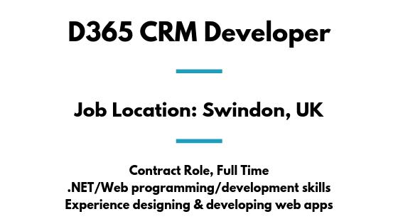 Contract D365 CRM Developer