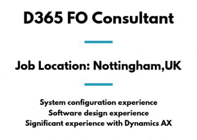 D365 FO Consultant