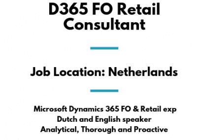 D365 FO Retail Consultant
