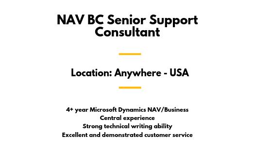 NAV BC Senior Support Consultant