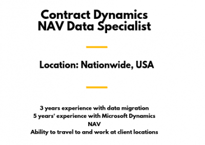 Contract Dynamics NAV Data Specialist