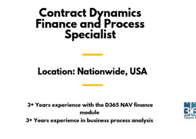 Contract Dynamics Finance and Process Specialist