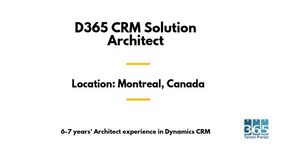 D365 CRM Solution Architect