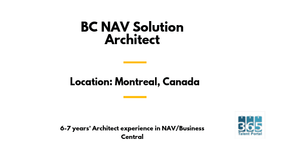 BC NAV Solution Architect