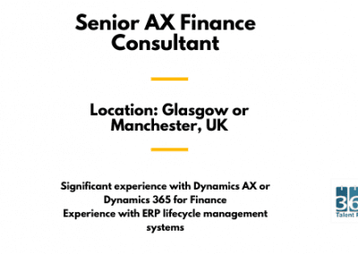Senior AX Finance Consultant